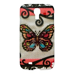 Cross Stitch Butterfly Samsung Galaxy S4 I9500/i9505 Hardshell Case