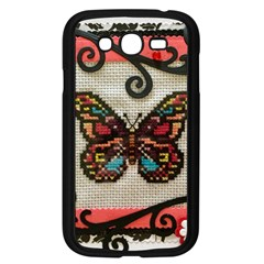 Cross Stitch Butterfly Samsung Galaxy Grand Duos I9082 Case (black)