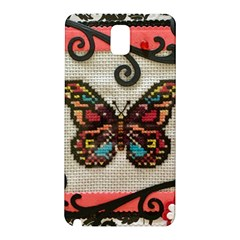 Cross Stitch Butterfly Samsung Galaxy Note 3 N9005 Hardshell Back Case