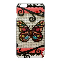Cross Stitch Butterfly Iphone 6 Plus/6s Plus Tpu Case by DeneWestUK