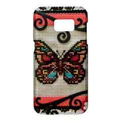 Cross Stitch Butterfly Samsung Galaxy S7 Hardshell Case
