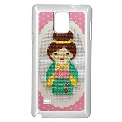 Cross Stitch Kimono Samsung Galaxy Note 4 Case (white)