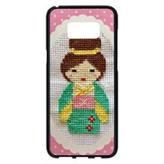 Cross Stitch Kimono Samsung Galaxy S8 Plus Black Seamless Case