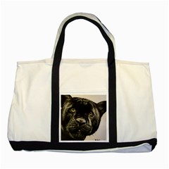 Panther Two Tone Tote Bag by ArtByThree