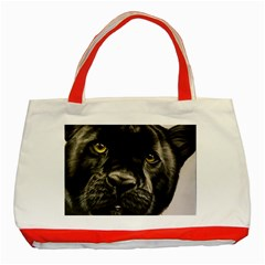 Panther Classic Tote Bag (red) by ArtByThree