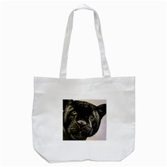 Panther Tote Bag (white) by ArtByThree