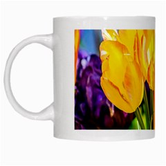 Festival Of Tulip Flowers White Mugs by FunnyCow