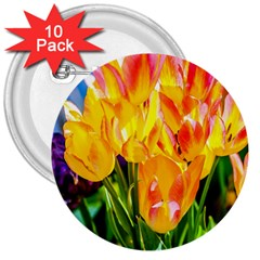 Festival Of Tulip Flowers 3  Buttons (10 Pack)  by FunnyCow