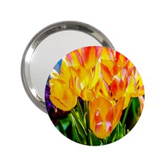 Festival Of Tulip Flowers 2 25  Handbag Mirrors by FunnyCow