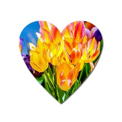 Festival Of Tulip Flowers Heart Magnet by FunnyCow