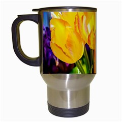 Festival Of Tulip Flowers Travel Mugs (white) by FunnyCow