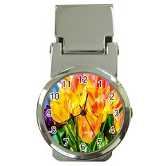 Festival Of Tulip Flowers Money Clip Watches