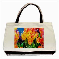 Festival Of Tulip Flowers Basic Tote Bag