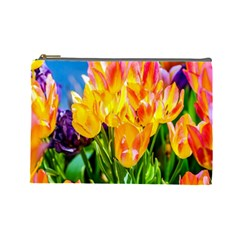 Festival Of Tulip Flowers Cosmetic Bag (large)