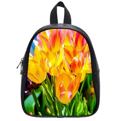 Festival Of Tulip Flowers School Bag (small) by FunnyCow