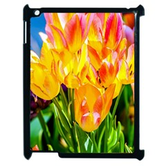 Festival Of Tulip Flowers Apple Ipad 2 Case (black) by FunnyCow