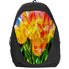 Festival Of Tulip Flowers Backpack Bag by FunnyCow