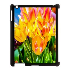 Festival Of Tulip Flowers Apple Ipad 3/4 Case (black) by FunnyCow