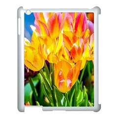 Festival Of Tulip Flowers Apple Ipad 3/4 Case (white) by FunnyCow