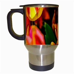 Fancy Tulip Flowers In Spring Travel Mugs (white) by FunnyCow