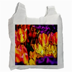 Fancy Tulip Flowers In Spring Recycle Bag (one Side)