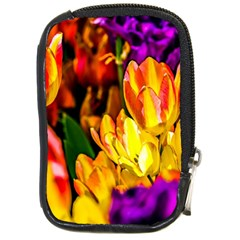 Fancy Tulip Flowers In Spring Compact Camera Leather Case by FunnyCow