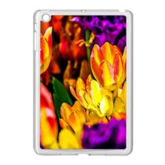 Fancy Tulip Flowers In Spring Apple Ipad Mini Case (white) by FunnyCow