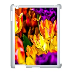 Fancy Tulip Flowers In Spring Apple Ipad 3/4 Case (white) by FunnyCow