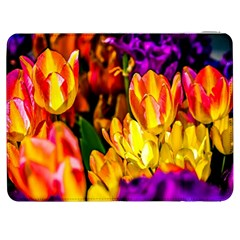 Fancy Tulip Flowers In Spring Samsung Galaxy Tab 7  P1000 Flip Case by FunnyCow