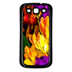 Fancy Tulip Flowers In Spring Samsung Galaxy S3 Back Case (black)