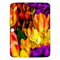 Fancy Tulip Flowers In Spring Samsung Galaxy Tab 3 (10 1 ) P5200 Hardshell Case  by FunnyCow
