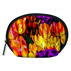 Fancy Tulip Flowers In Spring Accessory Pouch (medium) by FunnyCow