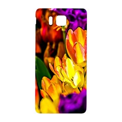 Fancy Tulip Flowers In Spring Samsung Galaxy Alpha Hardshell Back Case by FunnyCow