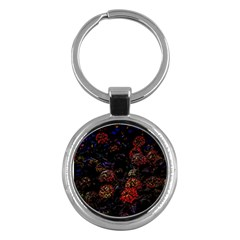 Floral Fireworks Key Chains (round)  by FunnyCow