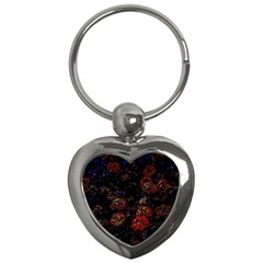 Floral Fireworks Key Chains (heart)  by FunnyCow