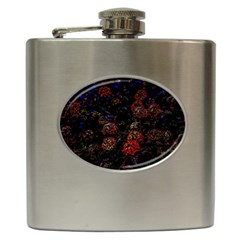 Floral Fireworks Hip Flask (6 Oz) by FunnyCow