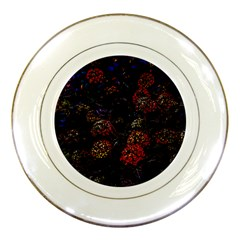 Floral Fireworks Porcelain Plates by FunnyCow