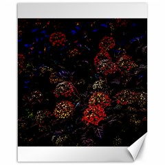 Floral Fireworks Canvas 16  X 20  by FunnyCow