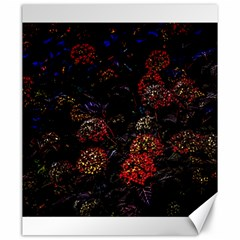 Floral Fireworks Canvas 20  X 24  by FunnyCow