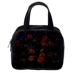 Floral Fireworks Classic Handbag (one Side) by FunnyCow