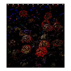Floral Fireworks Shower Curtain 66  X 72  (large)  by FunnyCow
