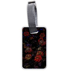 Floral Fireworks Luggage Tags (one Side)  by FunnyCow