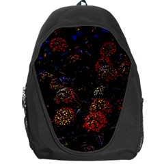 Floral Fireworks Backpack Bag by FunnyCow