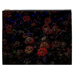 Floral Fireworks Cosmetic Bag (xxxl) by FunnyCow