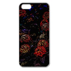 Floral Fireworks Apple Seamless Iphone 5 Case (clear) by FunnyCow