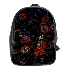 Floral Fireworks School Bag (xl) by FunnyCow