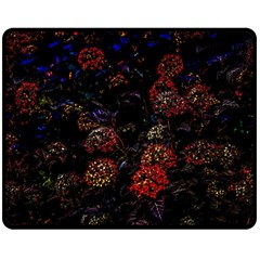 Floral Fireworks Double Sided Fleece Blanket (medium)  by FunnyCow