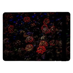 Floral Fireworks Samsung Galaxy Tab Pro 12 2  Flip Case by FunnyCow