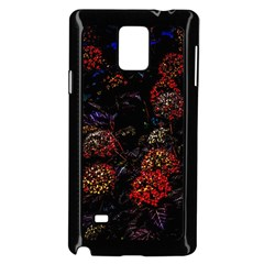 Floral Fireworks Samsung Galaxy Note 4 Case (black)