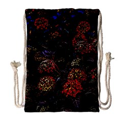 Floral Fireworks Drawstring Bag (large) by FunnyCow
